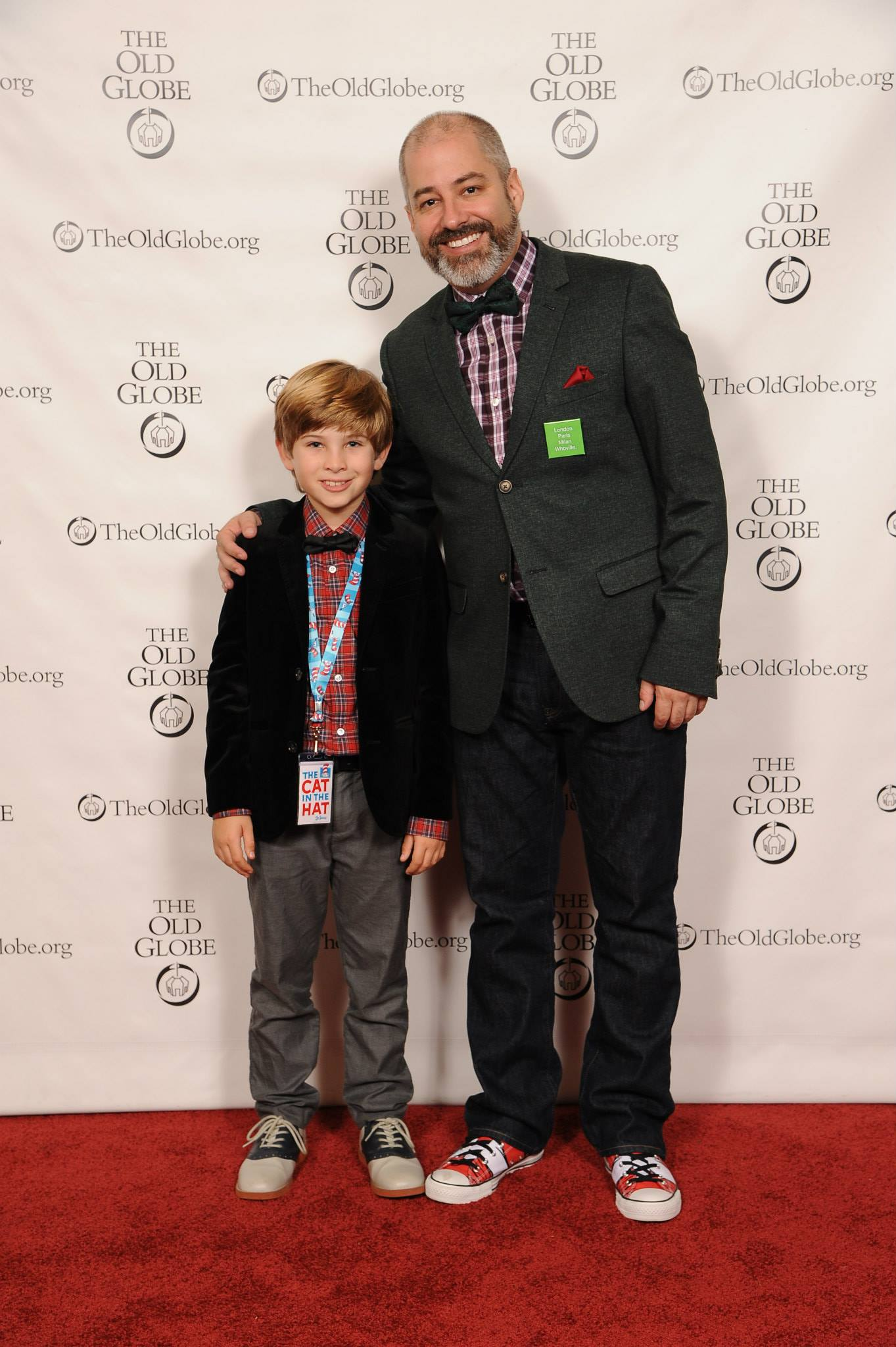 Noah and James Vasquez (Director of How the Grinch Stole Christmas) - Photo by Douglas Gates.