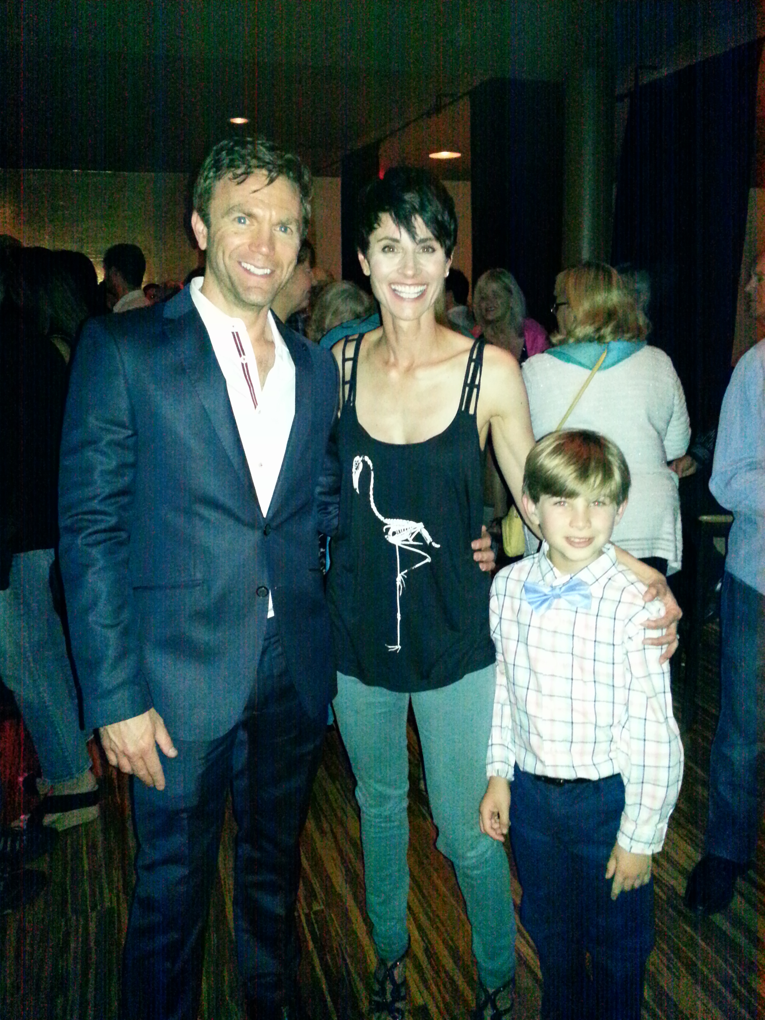 Noah with 'Annie' Beth Malone (Broadway: 'Ring of Fire', Off Broadway: 'Fun Home', 'The Marvelous Wonderettes') and Director John Todd.