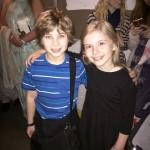 Noah with Brooklyn Shuck (Matilda) after her final performance.
