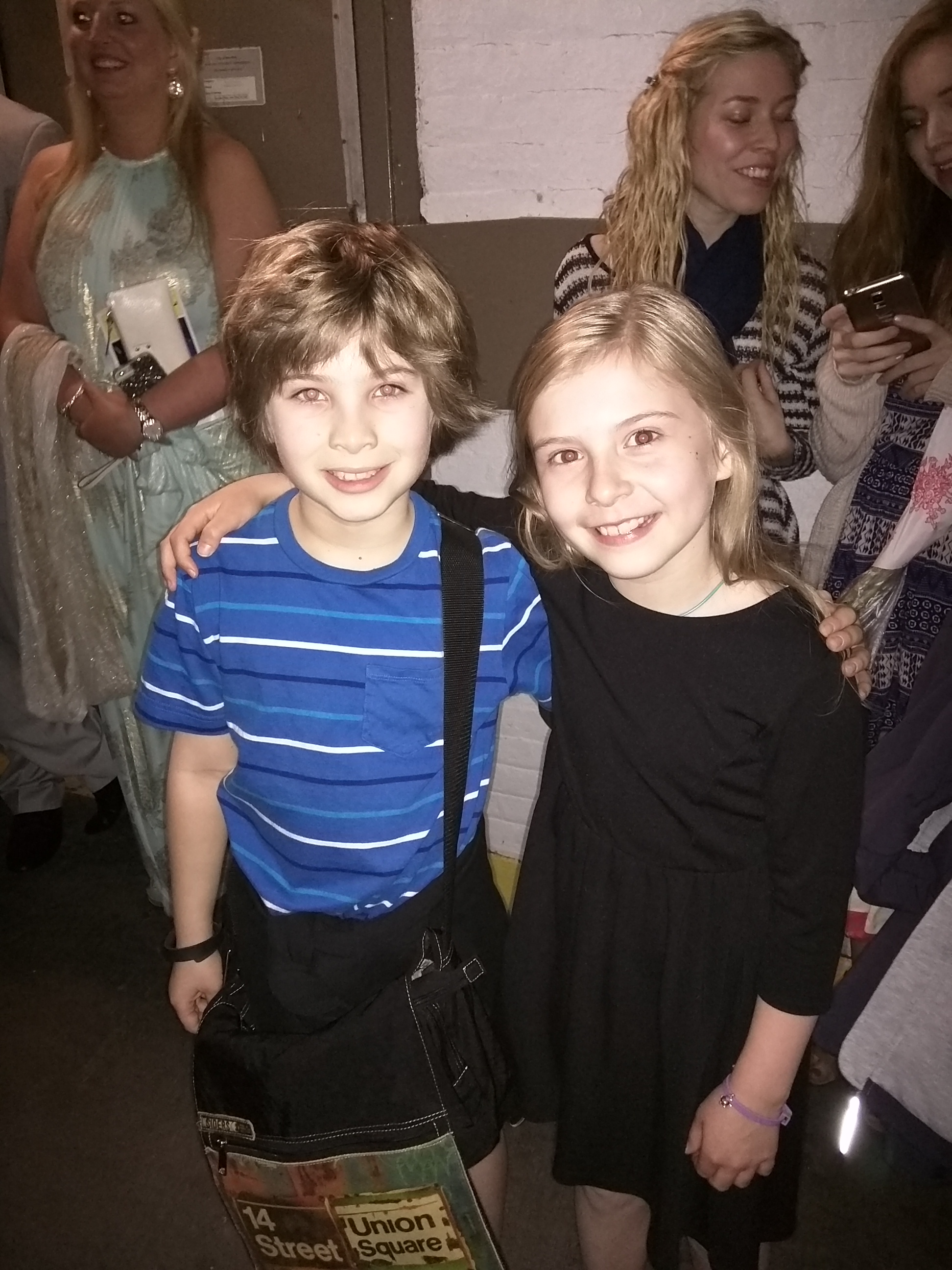Noah with Brooklyn Shuck (Matilda) after her final performance.