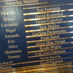 Matilda Cast Board