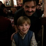 Noah with Broadway star Hunter Foster