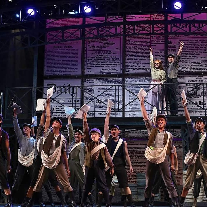 Cast of Newsies - Photo: Adriana Zuniga-Williams