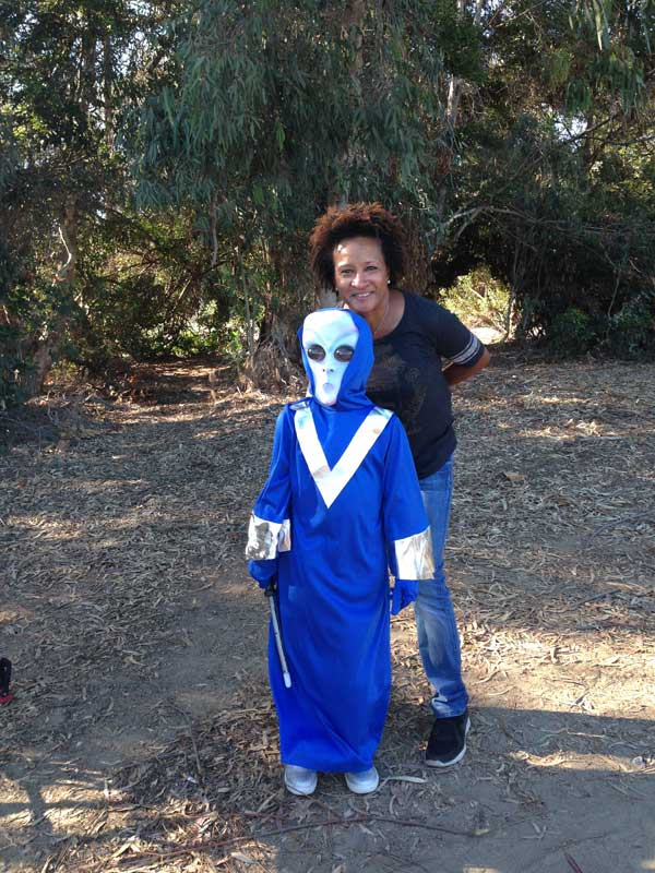 Hangin in character with Wanda Sykes