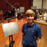 Recording the cast album for A Christmas Story LIVE!